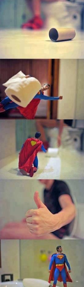 Porque podemos contar com o Superman em todos os Momentos, Vale super!!!!!!
