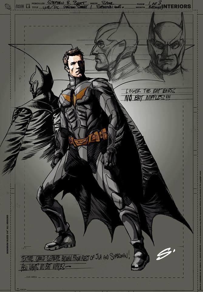 Possível Arte conceitual de Ben Afleck como batman.