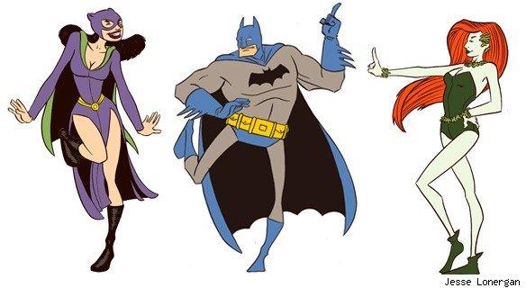 Sábado a noite com festa, ate os super heróis tem xD